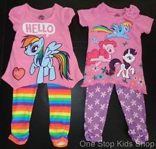 MY LITTLE PONY Girls 2T 3T 4T 5T Set OUTFIT Shirt Pants RAINBOW DASH Pinkie Pie