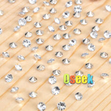 1000 Clear&Silver Diamond Confetti Wedding Party Table Scatter Crystals Decor