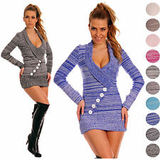 Ladies Sexy Stretch Warm Knit Jumper Long Sleeve Sweater Soft Top UK 8-14 912