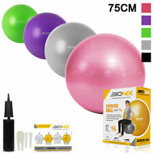 Gym Ball 75cm Exercise Fitness Aerobic Yoga Core Swiss Pregnancy Birth Workout