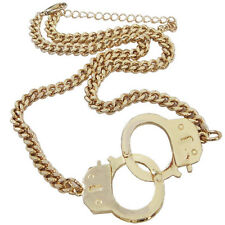 Sexy Gold/Silver Tone Handcuff Chunky Chain Necklace Choker Punk Oversize Charm