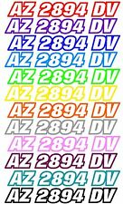 BOAT PWC JET SKI SEA DOO CUSTOM REGISTRATION HULL ID NUMBER DECAL STICKER 2 PACK