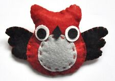 Cute Animal Wise Owl Felt Felted Badge Pin Brooch Jewellery Accessories