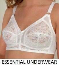 SUREFIT FIRM CONTROL LACE FULL COVERAGE BRA, NON-WIRED,BLACK & WHITE. ALL SIZES