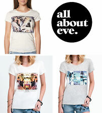 All About Eve Womens Photo Graphic T-Shirt Print Tee Aussie Brand RRP $39.95