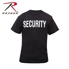 security black T-SHIRT double sided print on front and back rothco 6616 S - 8X