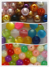 50 pcs 8mm Beads imitation pearl acylic beads  Free Shipping for Additional