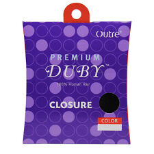 Outre Premium Duby 100% Human Hair Weaving Extension Closure