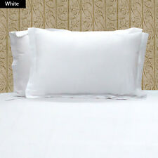 1000TC 100% EGYPTIAN COTTON SET OF 2 WHITE PILLOW SHAMS CHOOSE SIZE AND COLOR
