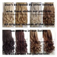 18 Inch, Full head, Curly, 5 clip, Synthetic Hair Extensions