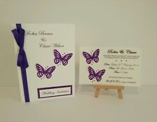 Day & evening style Glitter Butterfly Wedding Invitations *Katie Collection*
