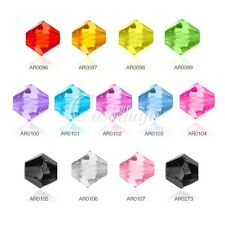 370pcs Acrylic Bicone Spacer Beads Charms Jewelry Findings 4x3mm 13 Colours