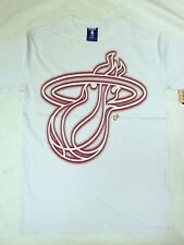 NBA Licensed Apparel Miami Heat Short Sleeve Shirt Men's White NEW with Tags