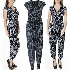 New Ladies Womens Tie Dye Print All In One Jumpsuit Playsuit Size S M L XL 8 14