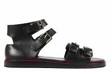 DIOR MEN'S LEATHER SANDALS NEW BLACK  5BD