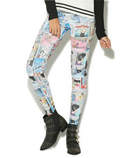 Disney Princess Cinderella Comic Newsprint Leggings Juniors