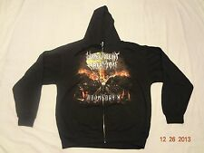 MALEVOLENT CREATION doomsday X ZIP HOODIE L,Inquisition,Alcest,Urfaust,Graveland