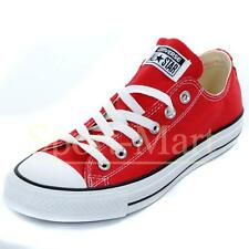Mens, Womens Converse All Star Low Red Canvas Pumps Trainers Mens Size