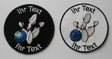 Bowling patch with your text 8cm  (27-1)