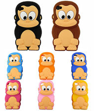 New 3D Cartoon Animal Cute Monkey Soft Silicon Case Cover For iPhone 5 5S 5C 5G
