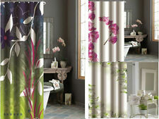 Luxury Orchid Pink White Green Polyester Weighted Hem Shower Curtain 180 200