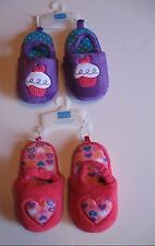 Girl's The Children's Place Heart or Cupcake Slippers 4T/5T, 6T/7T or 8T/9T, New