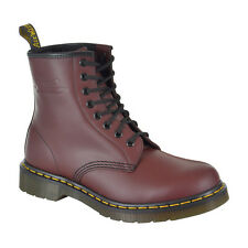 Dr Martens Red Cherry 1460z Boots 8 Eyelet Leather Smooth New Unisex UK Shoes