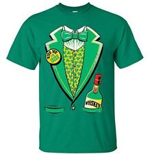 ST. PATRICK'S DAY TUXEDO Party Ireland Lucky Clover Irish Beer Funny T-Shirt