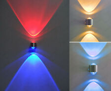 Crystal 2W Up/Down LED Wall Sconces Light Cafe Studio Disco Decking Lamp Bulb