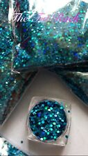 ~SeaGem~Nail Art Glitter~1.5 mm Hex~ Holographic ~Solvent Resistant~