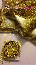 ~Gold~Nail Art Glitter~1.mm Hex~ Holographic ~Solvent Resistant~