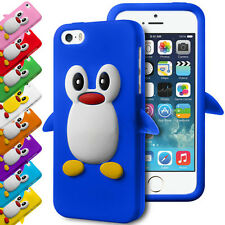 3D DESIGN PENGUIN FLEXIBLE SILICONE RUBBER GEL SKIN CASE COVER FOR APPLE IPHONES