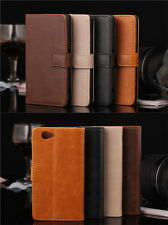 Luxury Card Slot Leather Wallet Purse Stand Case Cover For Various Mobile Phones