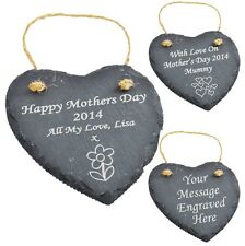 Personalised Engraved Heart Slate Mother's Day - Mothers Day Gift SG1