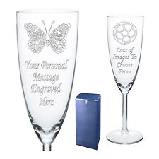 Engraved Champagne Flute 18th 21st 30th Birthday Gift SG1