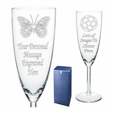 Engraved Champagne Flute 18th 21st 30th Birthday Gift KA2
