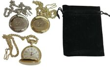 ROYAL NAVY CAP BADGE CREST ENGRAVED POCKET WATCH , COMES WITH VELVET POUCH