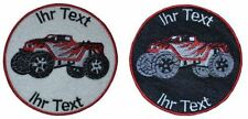 rc monster cars patch with your text 8cm embroidered logo (515-1)