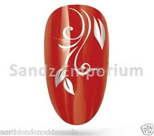 Nail Art Water Transfer Sticker Decal - Gold or Silver Floral Design (UK Stock)