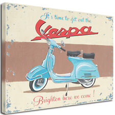 Vintage Pop Art Retro Canvases - Vespa, VW Camper Vans, Mini - 30'' x 30''