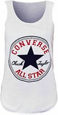 NEW WOMENS SLEEVELESS CONVERSE ALL STAR VEST TOP SIZE UK 8-14 UK