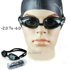 Multi Size Water Sport Swimming Myopia Nearsighted Silicone Goggles Glasses