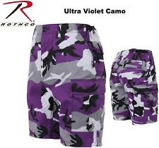 ULTRA VIOLET Camouflage Military BDU Combat Cargo Shorts Poly/Cotton 7100