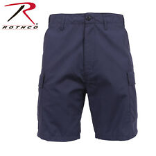 Navy Blue Zipper Fly Police & Emt BDU Cargo Shorts Poly/Cotton Rip Stop 65227