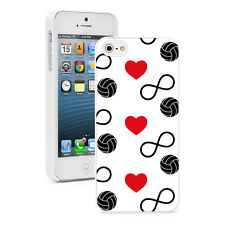 For Apple iPhone 4 4S 5 5S 5c Hard Case 999 Infinity Love Volleyball Hearts
