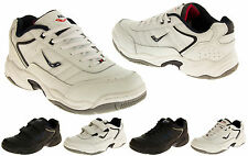 Mens LEATHER ASCOT Casual Sports Lace Up Velcro WIDE FIT Men Fashion Trainers