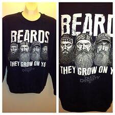 Duck Dynasty Guys Beards Grow On You Crew Fleece size M, L, XL Men's