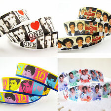♕1 Metre 22/25mm 1D One Direction Grosgrain Ribbon-Hair, Shoes, Clothing Crafts♕