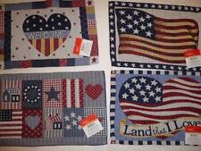 Placemat July 4th Memorial Day Americana PatrioticTapesty Stars Strips Plaid NEW