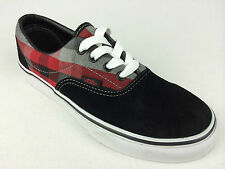 VANS. Kids ERA 2 Tone SUEDE & Canvas Shoes. BLACK & Red. US Kids1.5, 2 & 2.5.